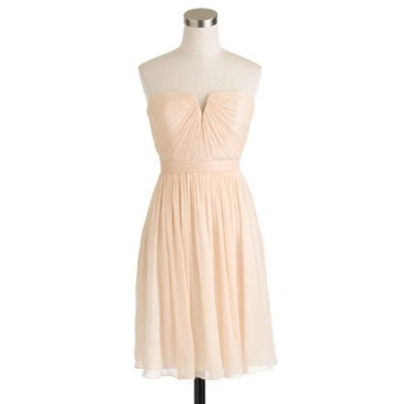 J. Crew Dresses & Skirts - J. Crew Nadia Champagne Dress Silk Chiffon 6